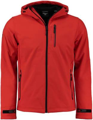 Superdry Softshell Hooded Rood