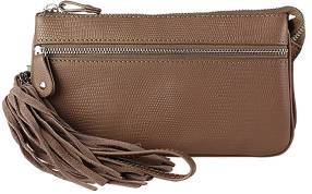 Lou Lou Clutch Lovely Lizard Taupe