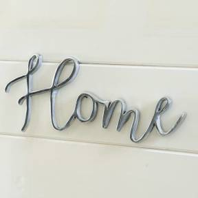 Riviera Maison Home Wall Sign Zilver