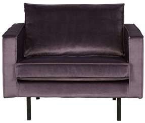 Be Pure Home Rodeo Fauteuil Velvet Grijs