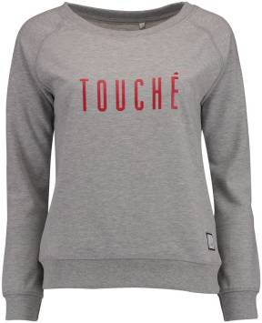 Cheaque Sweater Touch Grijs