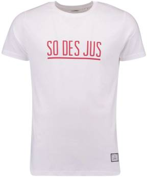 Cheaque T-shirt So Des Jus Wit