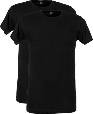 2-pack T-shirt Derby Zwart