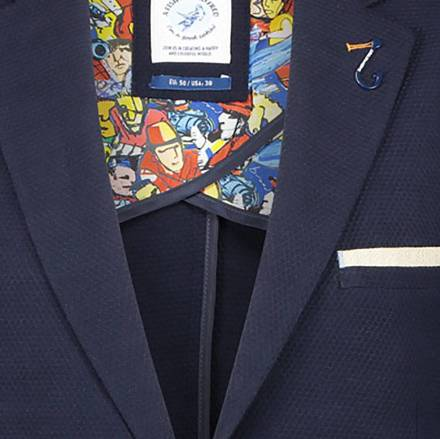 A Fish Named Fred Blazer Jersey Donkerblauw