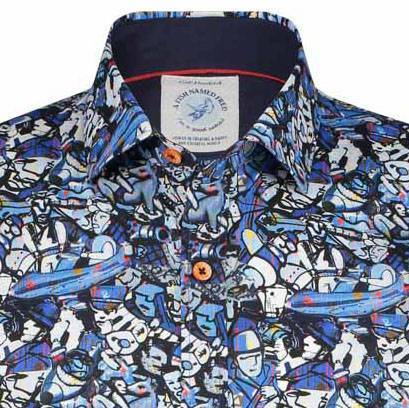 A Fish Named Fred Blouse Blauw