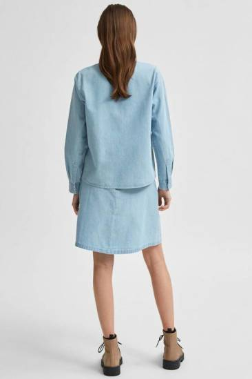 Selected Femme Blouse Blauw