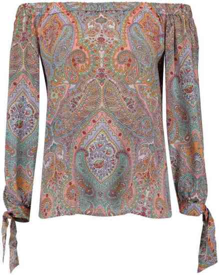 Emily van den Bergh Blouse Off Shoulder Multicolor