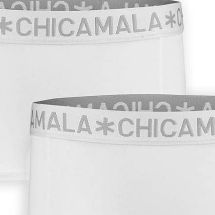 Muchachomalo Boxershorts 2-pack Solid Wit