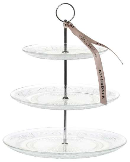 Riverdale Etagere Sparkle 3-laag Clear