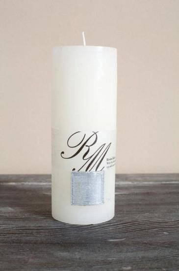 Riviera Maison Frosted Candle Whisper White 18x7