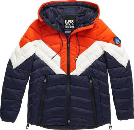 Superdry Jas Colorblock Eclipse Rood