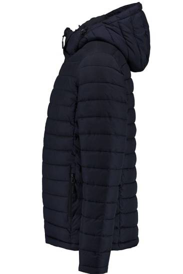Superdry Jas Hooded Donkerblauw