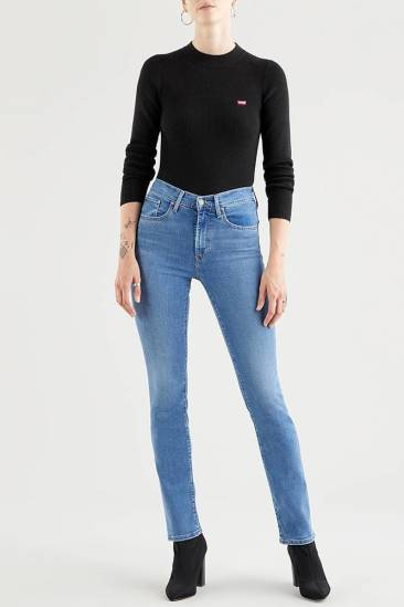 Levi's Jeans 724 High Rise Straight Blauw