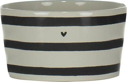 Bastion Collections Kom Stripes Heart Wit
