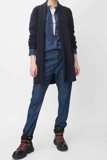 Marc O'Polo Lang vest donkerblauw