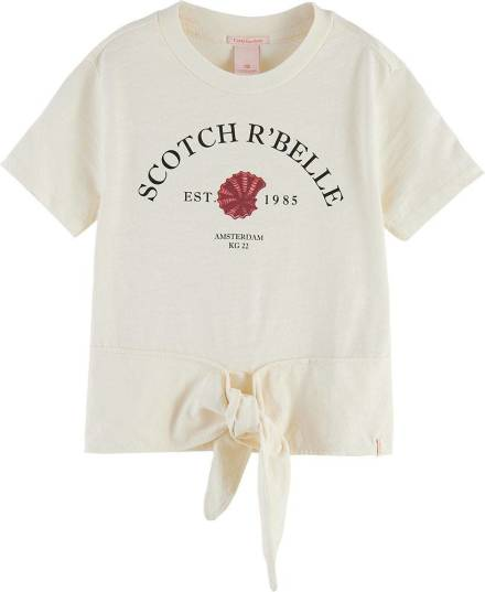 Scotch & Soda Organic cotton short sleeve tee with front tie