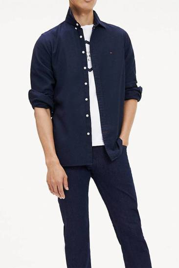 Tommy Hilfiger Overhemd Classic Donkerblauw
