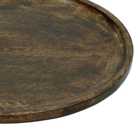 Bomont collection Plate Wood Brown 32x32x3cm