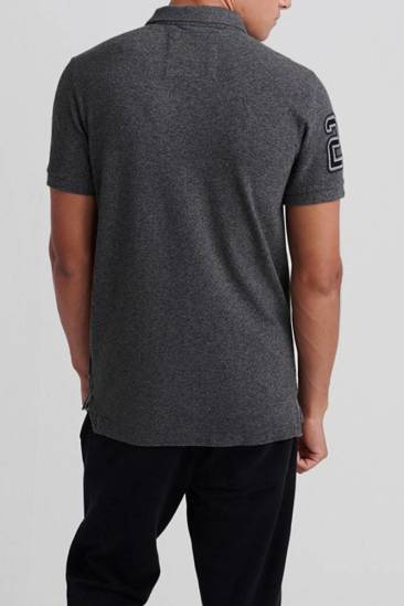 Superdry Polo Classic Pique Antraciet
