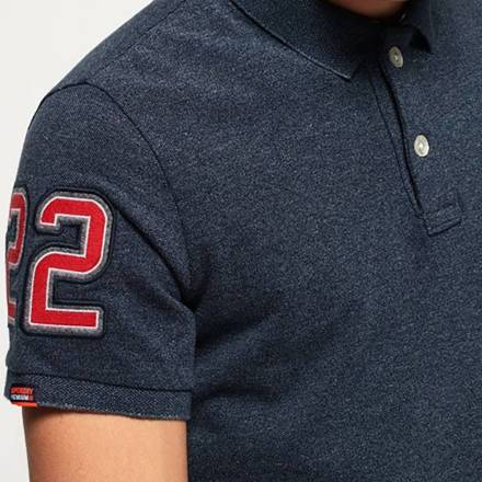 Superdry Polo Classic Pique Donkerblauw