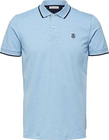 Selected homme Polo Lichtblauw