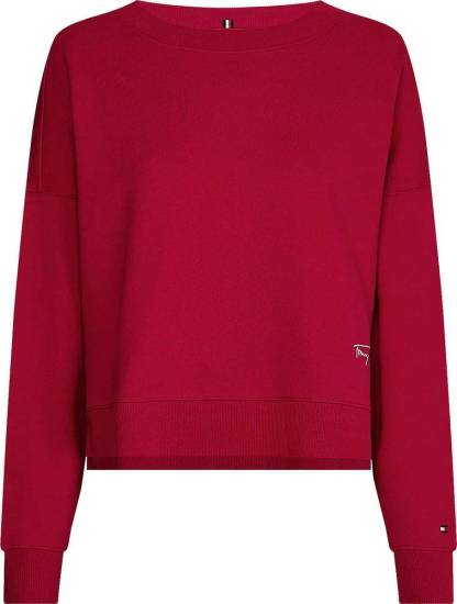 Tommy Hilfiger Sweater Relaxed Rood