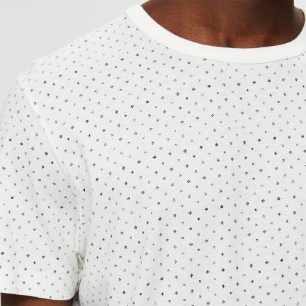 Selected homme T-shirt Brawley Wit