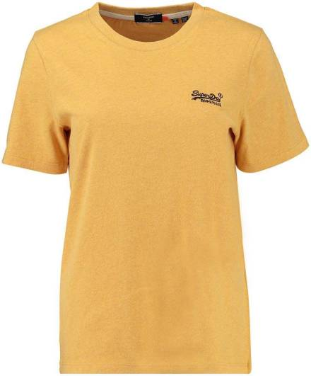 Superdry T-shirt Classic Geel