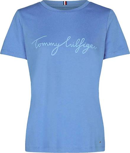 Tommy Hilfiger T shirt Graphic Blauw Tops & T shirts Dames
