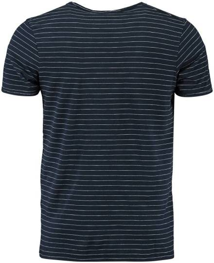 Selected homme T-shirt Morgan Donkerblauw