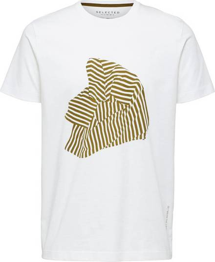 Selected homme T-shirt Slhregroxy Wit