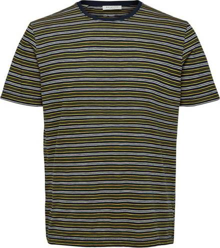 Selected homme T-shirt Stripe Blauw