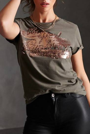 Superdry T-shirt The Real Foil Groen
