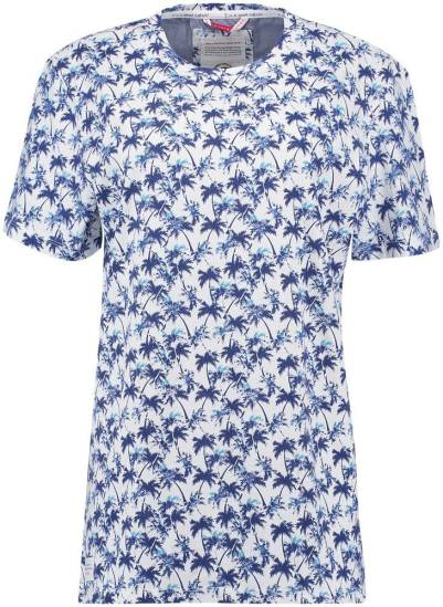A Fish Named Fred T-shirt Tropical Blauw