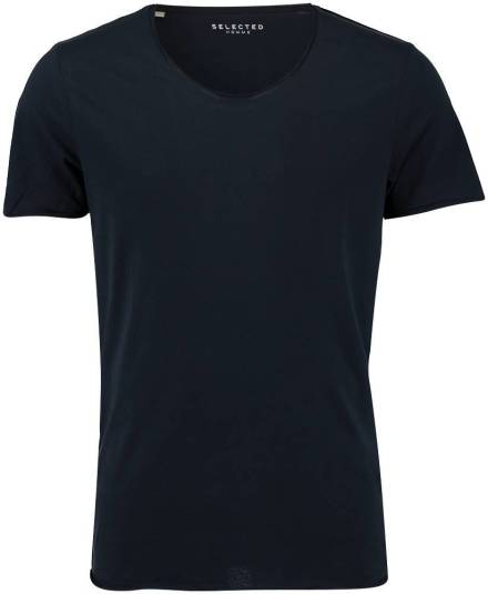 Selected homme T-shirt new merce Donkerblauw