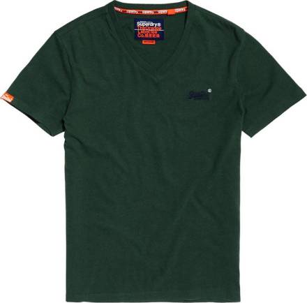 Superdry T-shirt orange label vintage groen