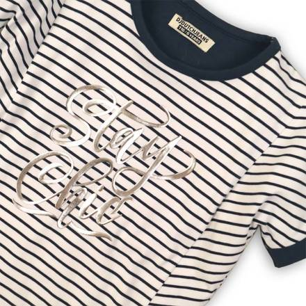 Dutch Jeans T-shirt shirt white/navy stripe