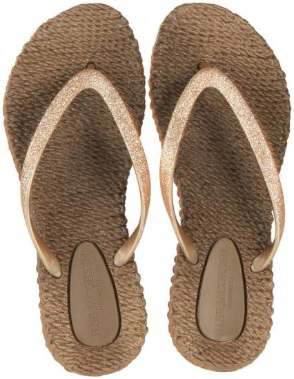 Ilse Jacobsen Teenslippers With Glitter Taupe