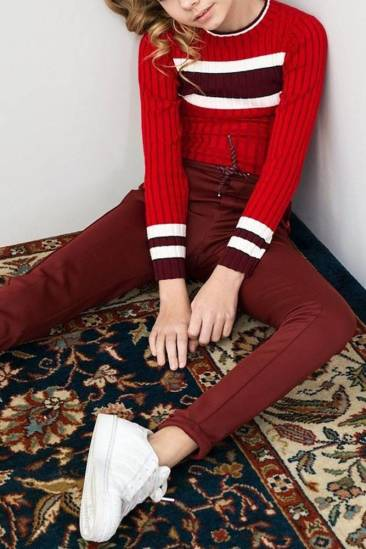 Looxs 10Sixteen Top Knitted Rood