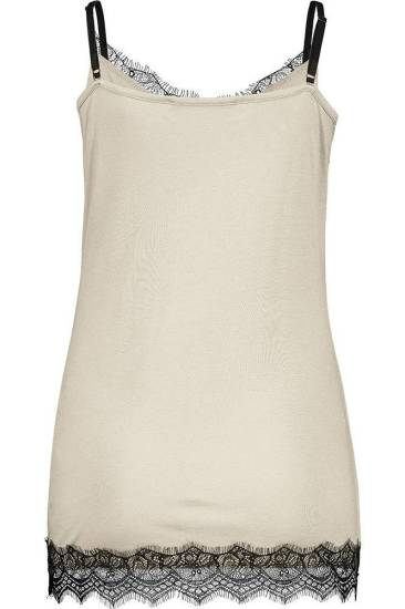 Expresso Top Lace beige