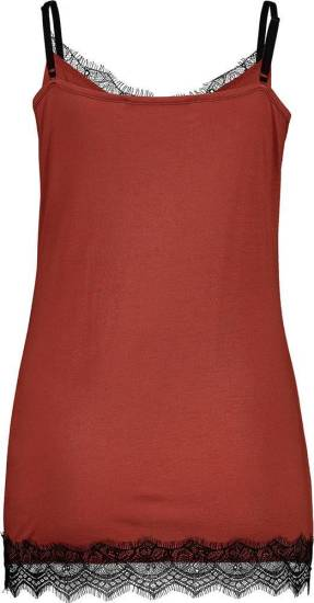 Expresso Top Lace rood bruin