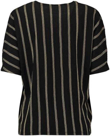 Geisha Top Stripe Zwart