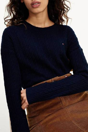 Tommy Hilfiger Trui Caboe Donkerblauw