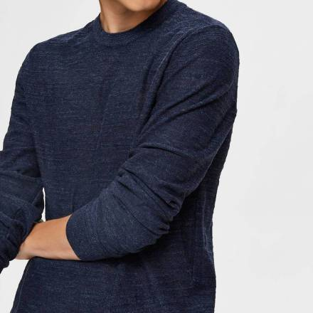 Selected homme Trui Donkerblauw