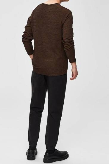 Selected homme Trui bakes Bruin