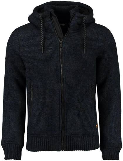 Superdry Vest Expedition Zip Trough Donkerblauw
