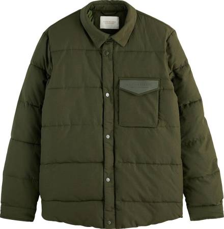 Scotch & Soda Water-repellent shirt jacket with R