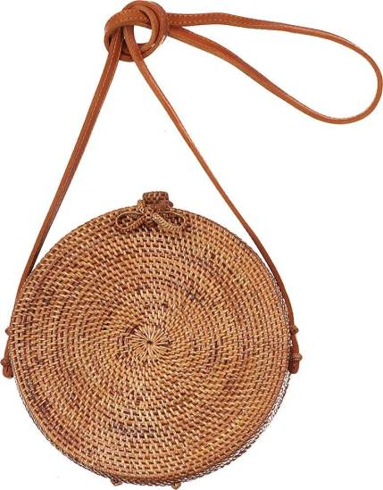 Bomont collection bag rattan/grass round natural