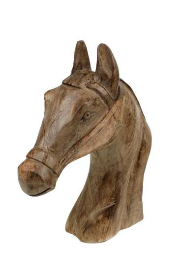 Bomont collection object paardenhoofd hout h36cm