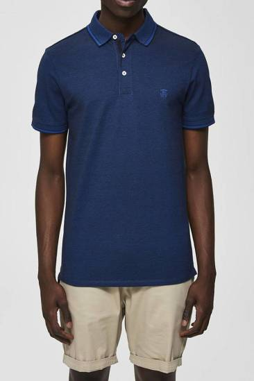 Selected homme polo Twist blauw